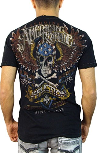 Affliction - Herrenstraße Fremder T-Shirt Black Lava Wash