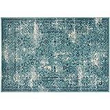 Alfombra Sitap efecto vintage gastado Color Azul – Disponible en 4 tamaños Capri 32031 – 8266
