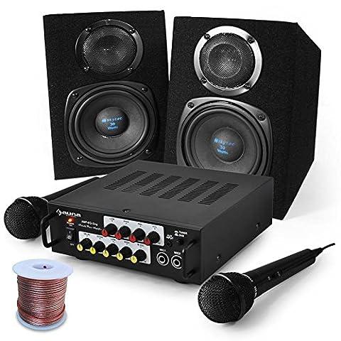 Karaoke Set Pony`s Ranch Boxen, Mikrofon, 400W