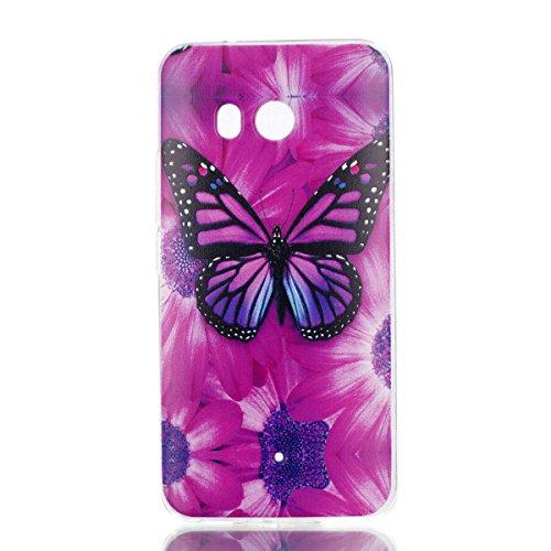 Preisvergleich Produktbild U11 Hülle, HTC U11 Hülle, Anlike HTC U11 (5,5 Zoll) Handy Hülle [Bunte Muster Design] Schutzhülle Etui Bumper für HTC U11 (5,5 Zoll) - Schmetterling