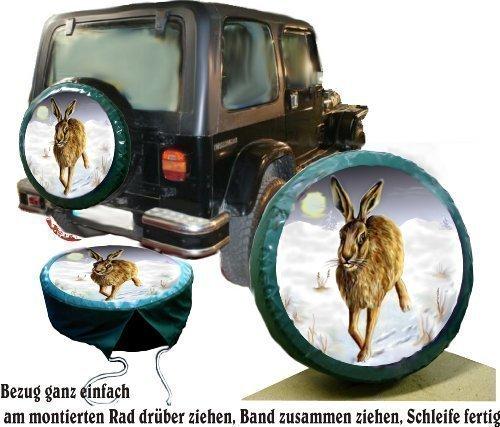 Bezug Reserverad Abdeckung Wildmotiv Hase für Jagd - Fans für Ihren Jeep (Jeep Reserverad Abdeckung Jagd)