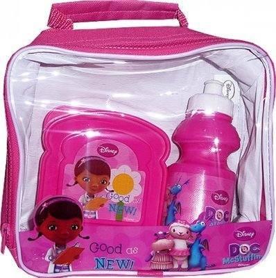Mädchen Kinder Hello Kitty Prinzessin Monster High Brotdose Set Mit Wasserflasche & Sandwichdose - Doc McStuffins Lunch Box Set