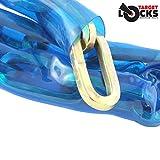 Cadena de seguridad Target Locks con eslabones cuadrados, de acero templado, resistente a sierras, cortacadenas, martillos, tornillos, cinceles, 1m x 10mm