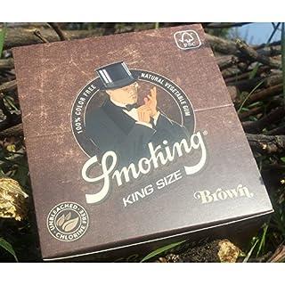 Smoking Zigarettenpapier in braun King Size-50Heftchen