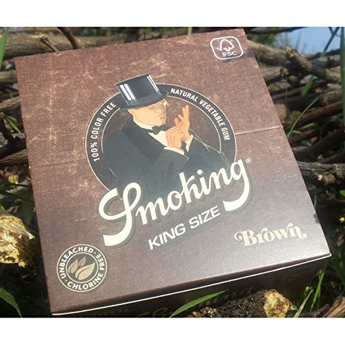 Display Smoking King Size Papier à cigarette Marron 50 x 33 feuilles