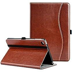 Compatibilité:Bien construit pour protéger votre iPad Mini 4 génération pour les années à venir.Description du produit:1.Cuir premium, élégant et beau, facile à transporter.2.With fermeture magnétique et multi-angle de visualisation.3.Se réveille ou ...