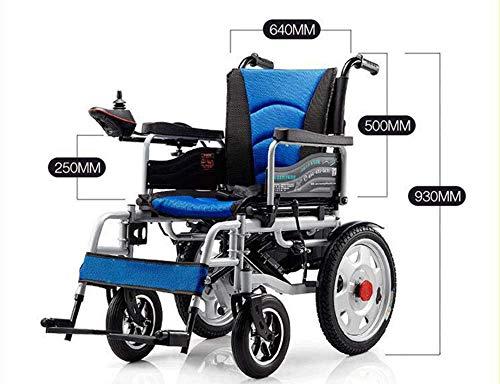 BBX cadeira de rodas elétrica cadeira de rodas cadeira de rodas elétrica para idosos Cadeira de rodas cadeira de rodas elétrica grande cadeira de laptop leve, azul