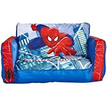 Spiderman 286SDM - Mini sofá y tumbona desplegable 2 en 1, color azul