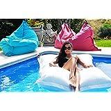 chillisy * Premium piscine Coussin Taupe * Maxi 190x 130cm, Couleurs: Blanc OD. flottante–Coussin avec noyau 100% imperméable intérieur, fabriqué en Allemagne 190 x 130 cm taupe