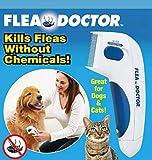 Flea Doctor,peigne électrique à brosse, élimination des poux de tête Nettoyage Outil de capture pour animaux de compagnie Chiens et chats