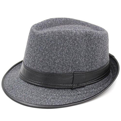 vague coréenne de chapeaux et casquettes de sport/ chapeau de jazz britannique Hommes/ Chapeau noir Printemps femme/Bonnet de laine/ Vieux chapeau M E