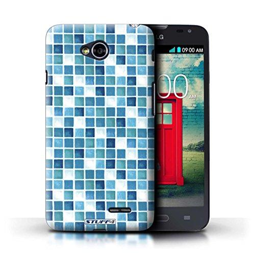Kobalt® Imprimé Etui / Coque pour LG L70/D320 / Violet/Vert conception / Série Carreau Bain Bleu/Turquoise