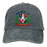 Fashion Casual Unisex Coat of Arms of The Dominican Republic Adjustable Baseball Cap Adult Denim Hat
