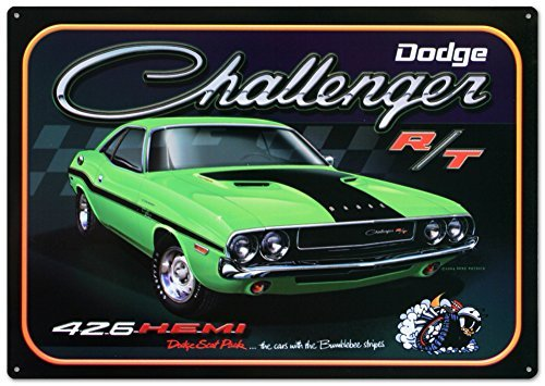 dodge-challenger-426-hemi-r-t-car-tin-sign-12-x-17in-by-poster-revolution