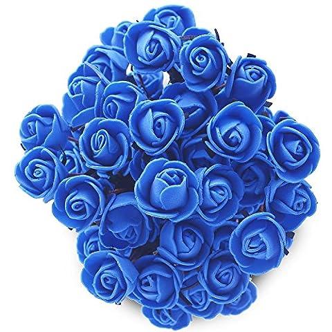 Soledi Bouquet de Rose en Soie Artificielle Fleur Mariage Maison Jardin Décoration 15 Têtes