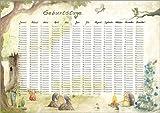 Poster 40 x 30 cm: Geburtstagskalender für Kinder von Nadine Conrad - Hochwertiger Kunstdruck, Kunstposter