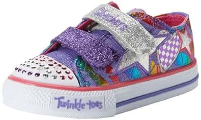 Skechers Shuffles Daisy Dotty, Baskets Basses fille - Violet (Prmt) - 34 EU (1.5 Enfant UK)
