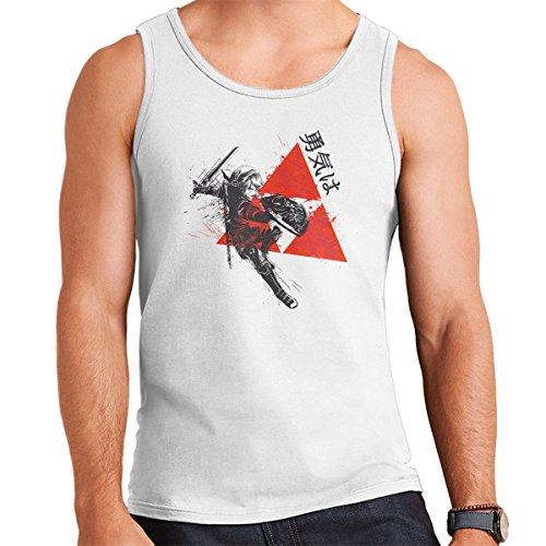 Red Sun Hyrule Legend Of Zelda Men's Vest White