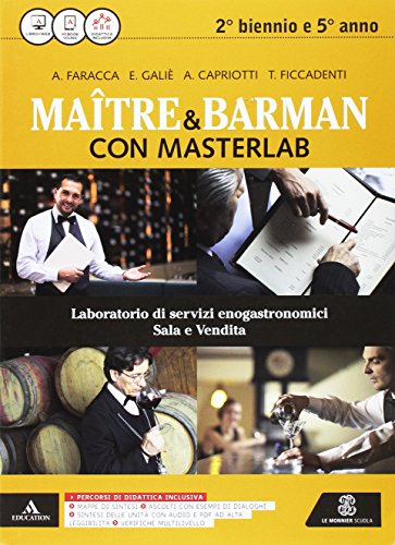 Masterlab. Matre e barman. Vol. unico. Per gli Ist. professionali alberghieri. Con e-book. Con espansione online