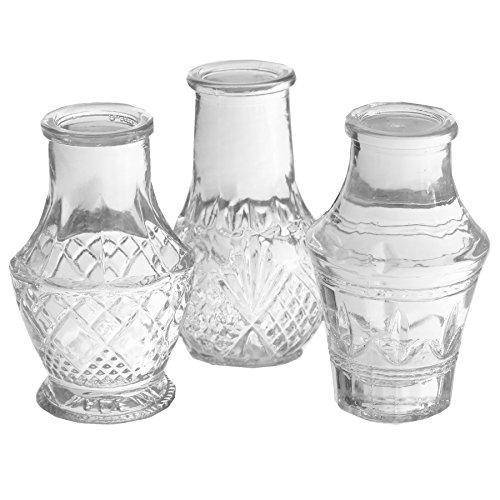 Annastore 12 x Mini-Vase H 8 cm - KIeine Vasen für die Tischdeko - Deko Vasen Glasfläschchen Glasvasen Blumenvasen
