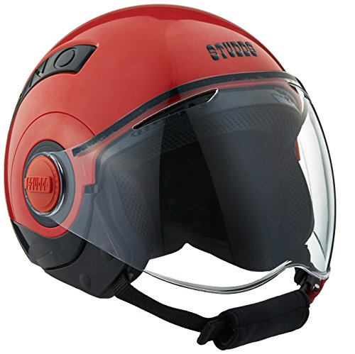 Studds Nano Half Helmet (Black and Red, S)