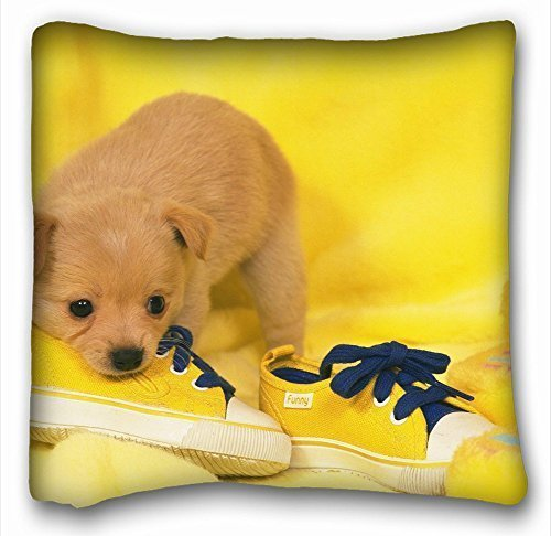 Personalized Pillowcase Fashion design Pillow Coverthrow Pillow case Animals Dog Puppy S Snout sneakers lie 18 * 18 Two Side