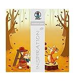 Ursus 703000305 - Premium Glitter Scrapbook paper Fox, ca. 30,5 x 30,5 cm, 5 Blatt, Motiv 305
