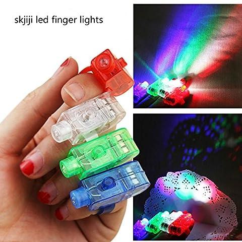 Skjiji Super Bright Finger Flashlights - LED Finger Lamps - Rave Finger Lights, Pack of 12