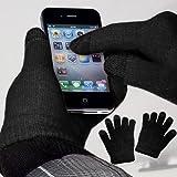 yayago Touchscreen Handschuhe Schwarz Universalgröße (ca. M – L) für Medion Akoya P3401T