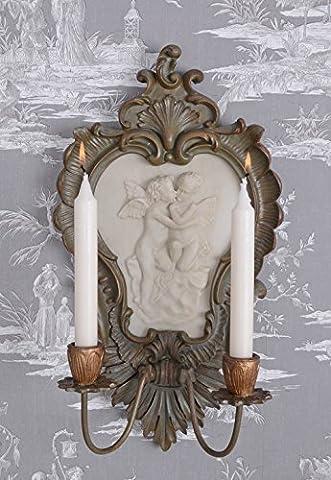Kerzenleuchter Rokoko Wandleuchter Wandapplik Engel Wand Leuchter Antik Palazzo Exclusiv