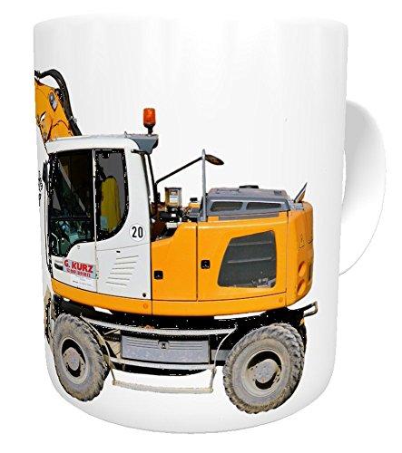 Kinderlampenland Kaffee-Tasse Liebherr Bagger mit Wunschname Personalisiert Geburtstagsgeschenk,...