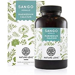 Sango Meereskoralle - 180 Kapseln. Natürliche Quelle für Kalzium (20%) und Magnesium (10%) im körpereigenen Verhältnis von 2:1. Hochdosiert und hergestellt in Deutschland