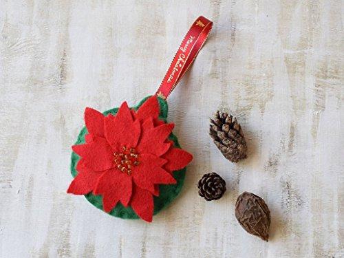 WEIHNACHTEN Rote Weihnachts stern Verzierung Filz Weihnachts baum dekor Weihnachtsstern Weihnachts dekoration Feiertags Dekor Handgemachte Filz dekoration Nursery Dekor Weihnachts geschenk