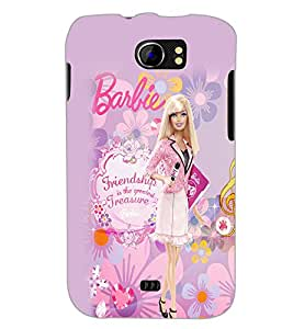 PrintDhaba Barbie Friendship Quote D-1076 Back Case Cover for MICROMAX A110 CANVAS 2 (Multi-Coloured)