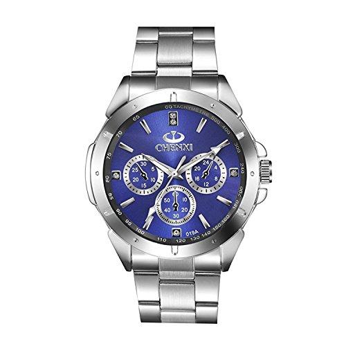 heißer mode - quarz - uhr mann quarz armbanduhren männer quarz - uhr blau