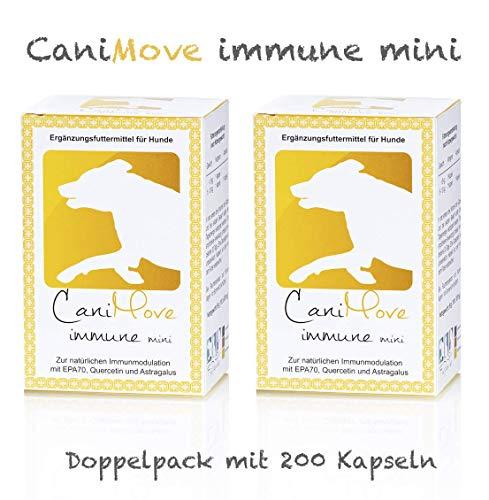 CaniMove Immune Mini (vorher: EPA70 Mini) Spar-Paket, 200 Kapseln mit je 200 mg EPA, Tragant und Quercetin für die natürliche Modulation des Immunsystems.