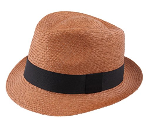 Classic Italy Authentique Chapeau Panama, tressage Traditionnel en Équateur - 5 Coloris - Homme Panama Cubano