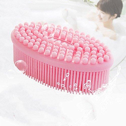 Little Sporter Baby Massagegerät Bad Dusche Massage Bürste Weiches Silikon Massage Bürste Baby Dusche Massage Kamm Rosa -