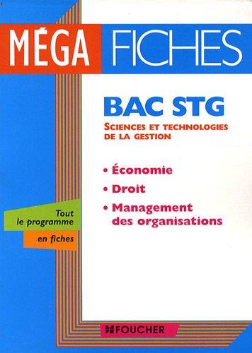 Economie, droit, management des organisations Bac STG