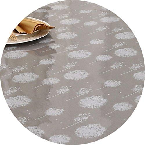 Nappes Nappe ronde, nappe de table en cristal 90cm Table basse à café Petite nappe ( Couleur : Fly , taille : Round-70cm )