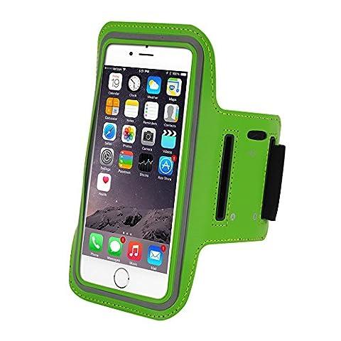 Refoss Brassard Sport iPhone 6 / 6 plus Etui Brassard pour le Jogging / Gym / Course avec sangle réglable compatible avec iPhone, Samsung Galaxy / Note, HTC, LG, Sony et les autres smartphones inférieur à 5 Pouces ,Vert