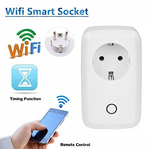 Gaoao WiFi Xócalo Teledirigido Sincronización Inalámbrica Interruptor de Control Remoto Sin limitaciones de Distancia Fuente de alimentación inteligente para iPhone y smartphone Android (EU)
