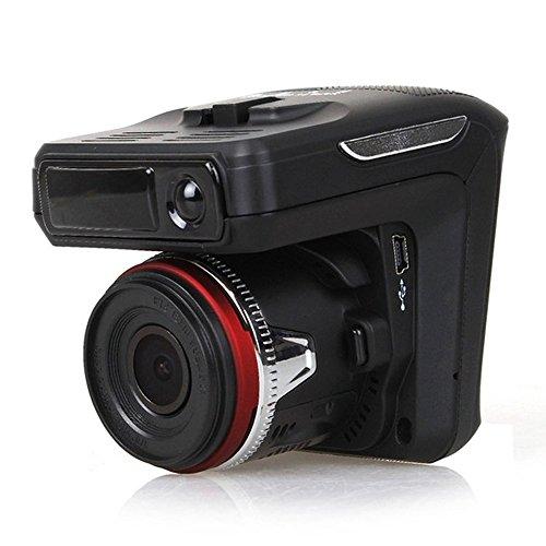 """COLORFUL(TM) Radarwarner und Car Dash Cam 2in1 / 2,4 \""""LCD HD Display / Nachtsichtlinse / Radar-Identifikationssystem / Full HD 1080P / 170° Weitwinkelobjektiv / Parküberwachung / G-Sensor / Loop-Aufnahme / Bewegungserkennung"""
