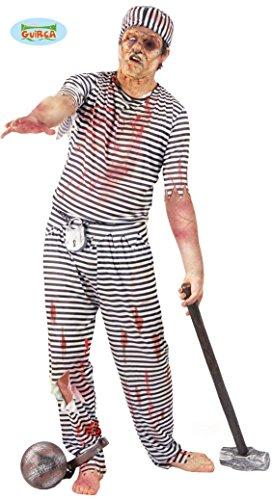 Gefangener Zombie Kostüm für Herren Gr. M/L, ()