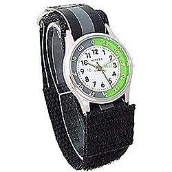 Reflex Time Teacher Black & Grey Velcro Strap Boys Childrens Watch REFK0003