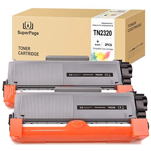Superpage - Toner compatibile con Brother TN-2320 TN2320 TN2310 per Brother DCP-L2520DW MFC-L2700DW HL-L2340DW HL-L2360DW DCP-L2500D HL-L2360DW MFC-L2740DW HL-L2300D MFC-L2720DW HL-L2365DW (2 x nero)