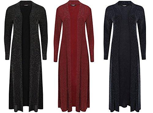 new-womens-ladies-laurex-lurex-long-shiny-glitter-long-sleeve-cardigan-m-l-uk-12-14-pink