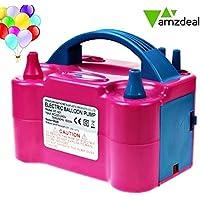 Amzdeal Pompa elettronica per gonfiaggio palloncini. Ideale per feste e Natale Potenza motore 600W