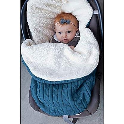 laamei Manta de Invierno para Bebé Recién Nacido Manta Envolvente Saco de Dormir Swaddle Diseño Universal y Multifunción para Sillas de Bebé, Cochecitos, Cunas