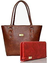 EDGEKART Premium PU Leather Women's And Girl's Handbag And Wallet Clutch Combo_ET01